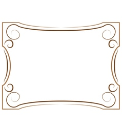 Multilayer brown frame on a white background vector