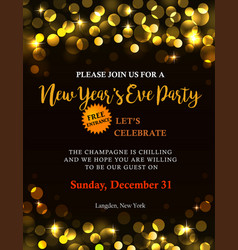 New year party invitation vector