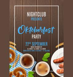 Oktoberfest party flyer template vector