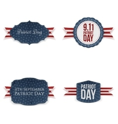 Patriot day realistic banners set vector