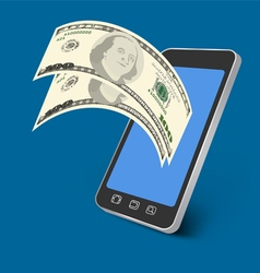 Paying mobile vector