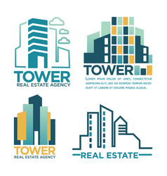 Real estate agency or company labels vector