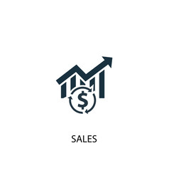 Sales icon simple element sales vector