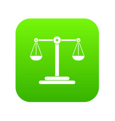 scales balance icon digital green vector image