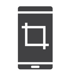 Screenshot glyph icon web and mobile camera sign vector