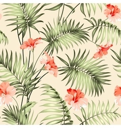 Seamless pattern of a palm vector