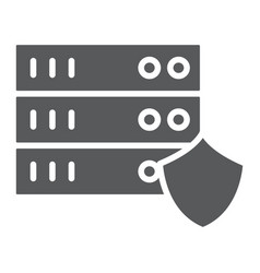 server protection glyph icon privacy and security vector image
