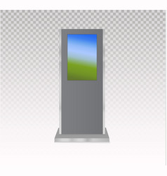 Set of information kiosks with blank screens vector