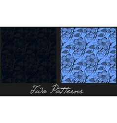 Set of two patterns vector image