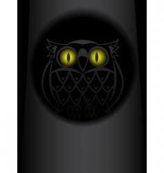 shone eyes of an owl vector image