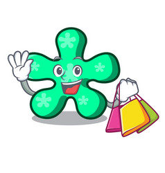 Shopping free form character cartoon vector