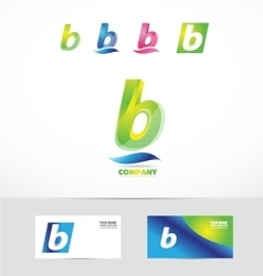Small letter b icon logo vector image