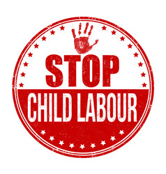 Stop child labour grunge rubber stamp vector