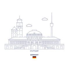 Stuttgart city skyline vector