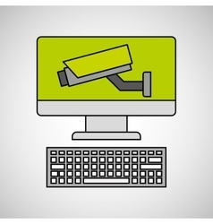 system technology protection icon design vector image