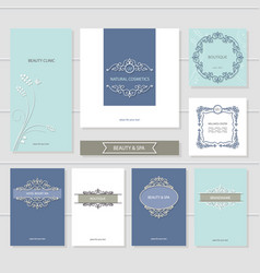 Templates set brochures cards banners vector