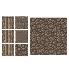 Texture for platformers pixel art - brick vector