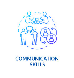 Toddlers communication skills concept icon vector