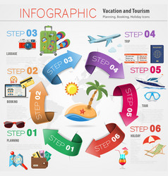 Vacation Timeline Infographics vector