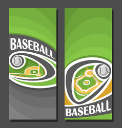 Vertical banners for baseball vector