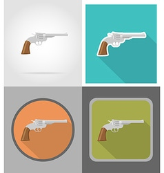 Wild west flat icons 10 vector