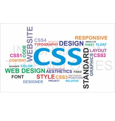 word cloud css vector image