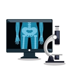 X- ray and monitor pc design vector