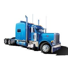 big blue truck vector image