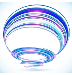 Blue abstract futuristic spiral background vector image