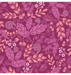 Fall garden seamless pattern background vector image vector image