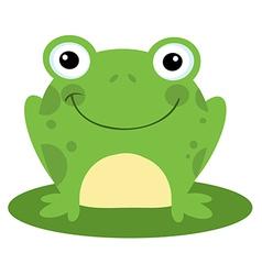 Happy Head Frog Cartoon Character vector image vector image