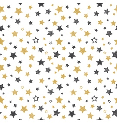 Seamless pattern with hand drawn stars Stylish vector image vector image