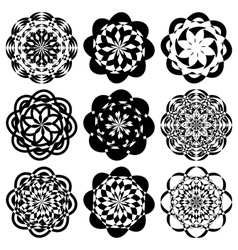 Set of decorative elements vector image