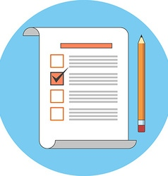 Survey voting review concept Flat design Icon in vector image