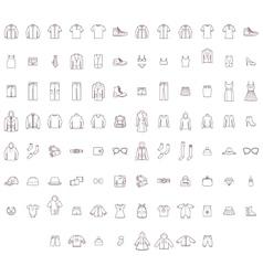 Big clothes set vector