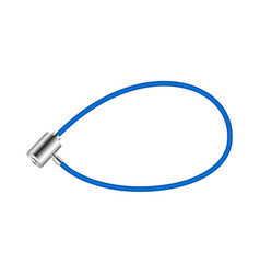 blue bicycle lock vector image