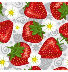 excellent seamless pattern with strawberry vector image