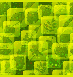 icons with leaves set vector image