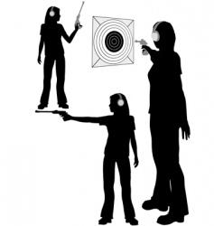 shooting target vector image vector image