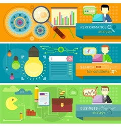 Strategy search solutions performance analysis vector image vector image