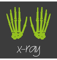 X-ray science design banner and background eps10 vector