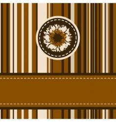 beautiful vintage frame design vector image vector image