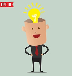 Business man thinking - - EPS10 vector image vector image