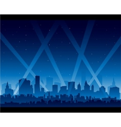downtown party city at night background vector image