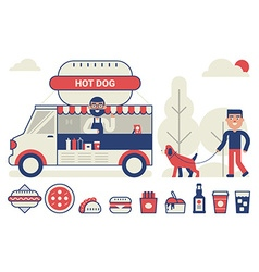 Food truck concept vector image