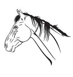 horse head profile2 vector image vector image