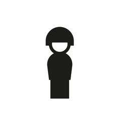 military unit icon on white background vector image vector image