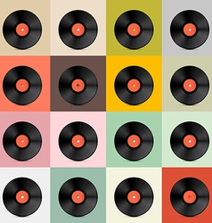 Retro - Vintage Vinyl Record Disc Template vector image vector image