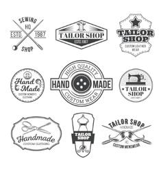 Set of tailor emblem signage vector image vector image