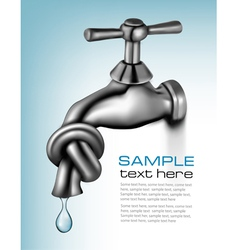 water tap closed blue background vector image